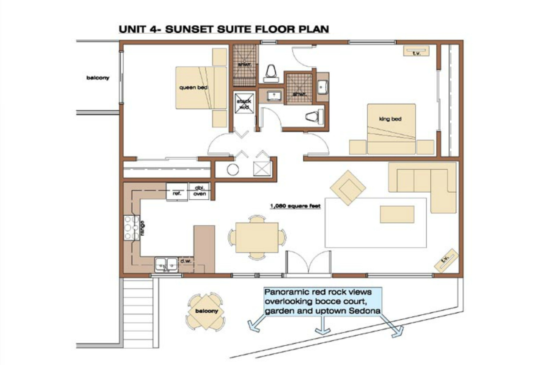 Vista Ridge Sunset Suite - Floor Plan